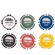 Porta Copos Poker Night - 4 unidades