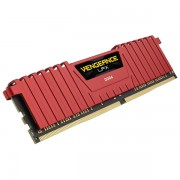 DDR4, 8GB, 2400MHz, CORSAIR Vengeance LPX Red Heat spreader, Unbuffered, 1.20V, XMP 2.0 (CMK8GX4M1A2400C14R