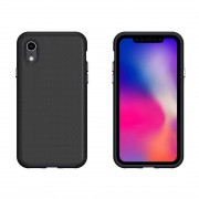 Anti-slip Armor Protective Case Back Cover Shell for iPhone XS(Black)
