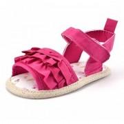 Seajol Baby Girls Velcro Flats Sandal (Pink) (Insole 11 cm)