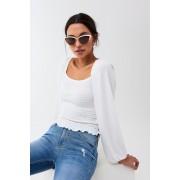 ''Gina Tricot'' ''Ava sunglasses'' ''White (1000)'' ONESZ