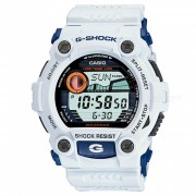 reloj digital serie casio G-7900A-7 g-shock-blanco + azul