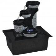 vidaXL Interiérová fontánka s LED osvetlením z polyresinu