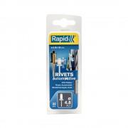 Nituri Rapid Automotive diametru 4.8mm x 16mm, aluminiu, 4 culori, burghiu metal HSS inclus, 32 buc set 5000404