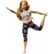 Mattel Barbie Bambola con 22 Punti Snodabili. Capelli Ondulati e Abiti d...