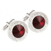 Mousie Bean Crystal Cufflinks Round 70's 083 Siam