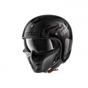 SHARK Helmet Casco Jet S-Drak Carbon Dagon Carbonio-Antracite taglia XS