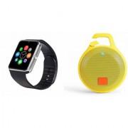 Zemini GT08 Smart Watch and Clip plus Bluetooth Speaker for LG OPTIMUS L1 II DUAL(GT08 Smart Watch with 4G sim card camera memory card |Clip plus Bluetooth Speaker )