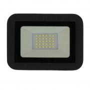 Proiector LED Well, 1600 lm, IP65, 6500K, 20 W, Negru