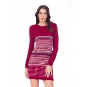 Be You Rochie bordo tricotat cu diverse modele Multicolor