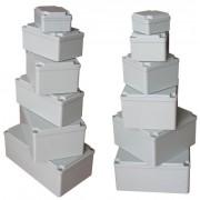 Aluminium kötődoboz, csavaros fedél 230X130X90 IP67 (ALUBOX-514)