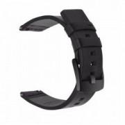 Curea piele naturala compatibila Smartwatch 24mm telescoape QR Negru