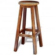 vidaXL Barska Stolica od Masivnog Obnovljenog Drva