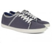 Clarks Rorric Plain Blue Canvas Sneakers For Men(Blue)