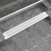 vidaXL 830x140 mm Lineáris hullámos rozsdamentes acél zuhany lefolyó