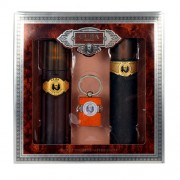 Cuba Gold 100Ml Edt 100Ml + 100Ml Aftershave Lotion + Key Ring Per Uomo (Eau De Toilette)
