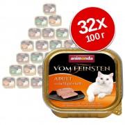 Смесена опаковка Animonda vom Feinsten Adult 32 x 100 г - микс от риба и месо