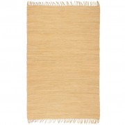 vidaXL Ръчно тъкан Chindi килим, 120x170 см, бежов