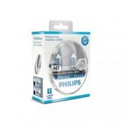 Set 2 becuri auto cu halogen pentru far Philips White Vision H7 12V 55W PX26D