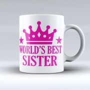 Grabadeal Beautiful White Worlds Best Sister Coffee Mug Gift for Raksha Bandhan
