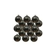 Merkloos 24x Glazen kerstballen glans grijsblauw 6 cm kerstboom versiering/decoratie