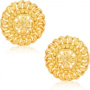 Vighnaharta Traditional 1gm Gold South Screw Back Alloy Gold and Micron Plated Stud Earring- VFJ01125ERG