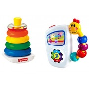 Baby Einstein Take Along Tunes Infant Toy And Fisher Price Brilliant Basics Rock A Stack Bundle Includeds 2 Toys And Makes A Great Baby Shower Gift Set