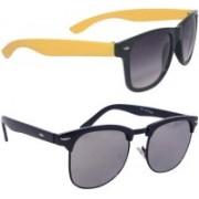 VARTIKA Clubmaster Sunglasses(Grey)