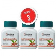 Himalaya Ashva gandha (Pack of 3) General Wellness Tablets - 60 Tablets each