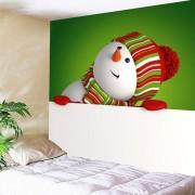Rosegal Art mural Bonhomme de neige Imprimer Tapisserie de Noël Largeur71 pouces*Longeur71 pouces