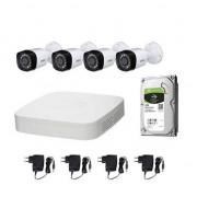 DAHUA Kit Videosorveglianza DAHUA FULL HD @1080p XVR 4CH + 4 CCTV + HD