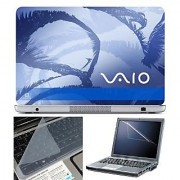 FineArts Laptop Skin 15.6 Inch With Key Guard & Screen Protector - VAIO Blue Modern Art