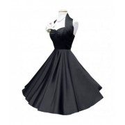 Duchess Dress Satin Zwart