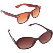 Aligatorr Combo Of 2 Cat Eye Wayfarer Unisex Sunglasses ldy brnkc bnsdCRLK