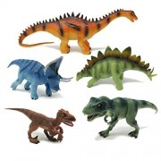 BOLEY (5-Piece) Authentic Educational Dinosaurs with Dinosaur Education Tags - Dinosaur Educational Toy Playset Great as Kids Dinosaurs, Dinosaur Party Favors, and Dinosaur Party Supplies