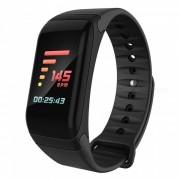 pantalla colorida impermeable pulsera inteligente bluetooth con monitor de frecuencia cardiaca? monitor de presion arterial - negro
