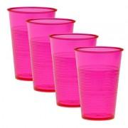 HAB & GUT Trinkbecher 4er Set wiederverwendbar pink
