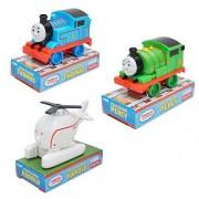 "Thomas & Friends 3pc Set 4"" Push Along My First Train Tank Engine Percy Harold"