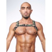 Mister B Urban Camo X Back Club Harness Green 820542