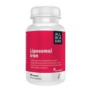 Sensilab All IN A Day Liposomales Eisen Mikrokapseleisen in liposomaler Form Angereichert mit Vitamin C für bessere Absorption 30 Kapseln für 1 Monat