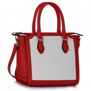 Kabelka LS fashion LS00149A - červeno -bílá