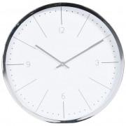 Zegar ścienny SREBRNY nowoczesny chromowany 40 cm