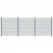 vidaXL Anthracite Grey 6 m Fence Panel with Posts 2 m High