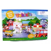 New Little Vehicle Build Own Town Building Signs Pop Out Cardboard Play Set
