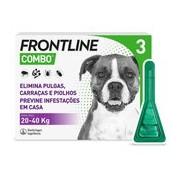 Combo spot on para cães dos 20 aos 40kg 3pipetas - Frontline
