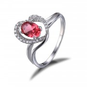 Inel Pink Love Safir Logodna marimea 7