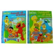 Sesame Street Jumbo Coloring And Activity Book Set Of 2 Fun Books