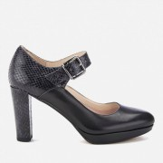Clarks Women's Kendra Gaby Leather Mary Jane Heels - Black Combi - UK 8 - Black