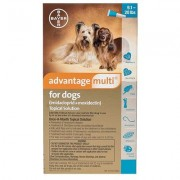 Advantage Multi Aqua for Medium Dogs 9.1-20 lbs 6 + 2 Free Doses