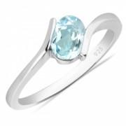 Inel argint Hope 925 cu topaz albastru - IVA0009
